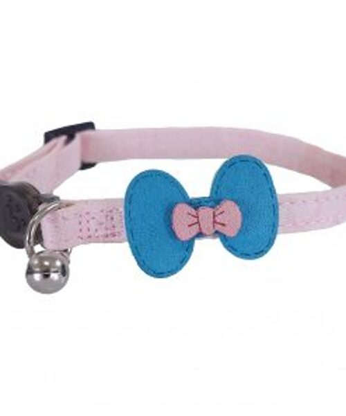 Collier Pink & Teal Bow